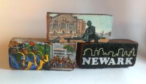 Newark culture - Malik Whitaker - mixed media - 2014 - 6 x 16 x 3 inches
